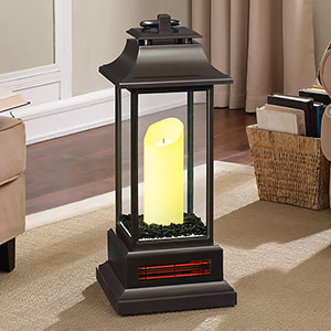 Duraflame Infrared Electric Lantern Heater in Bronze - 10ILH100-01