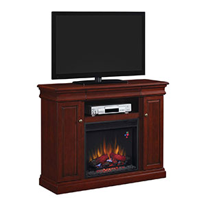 Louie Electric Fireplace Media Console in Cherry  - 23MM9643-X331