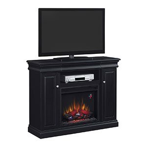 Louie Electric Fireplace Media Console in Black  - 23MM9643-X334