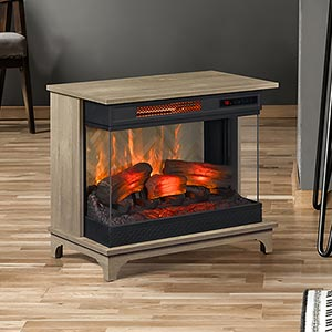 Duraflame PanoGlow Chico Oak Infrared Electric Fireplace Stove w/ Remote Control - 24WM6549-PO127