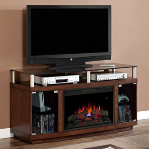 Drew Electric Fireplace Media Cabinet in Autumn Birch - 26MM9405-W324
