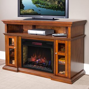 Pasadena Infrared Electric Fireplace Entertainment Center in Burnished Walnut - 28MM468-W502