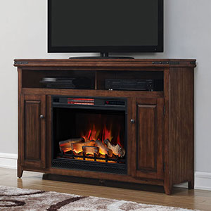Mayfield Infrared Electric Fireplace Media Console in Cherry  - 28MM9644-X332