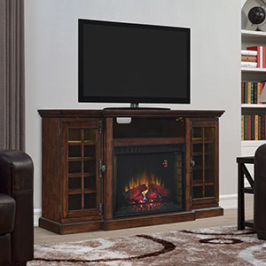 Triple Function Electric Fireplace TV Stand in Cherry - 28TF10315-C296