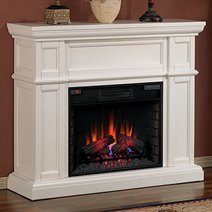 Artesian 52 inch Infrared Electric Fireplace Mantel Package in White - 28WM426-T401