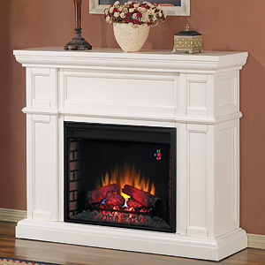 "Artesian 28"" Electric Fireplace Mantel in White - 28WM426-T401"