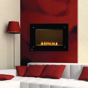 Napoleon 39-Inch Black Wall Mount with Electric Fireplace Heater - EF39HD