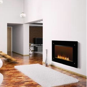 Napoleon 39-Inch Black Wall Mount Electric Fireplace - EF39S [No-Heat]