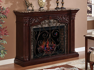 Wide selection of large electric fireplace mantel packages and sizes from Dimplex and ClassicFlame that offer tremendous style and plenty of finish options..