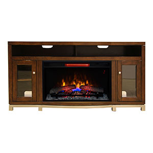 Wesleyan Electric Fireplace TV Stand in Meridian Cherry - 32MM6449-C247