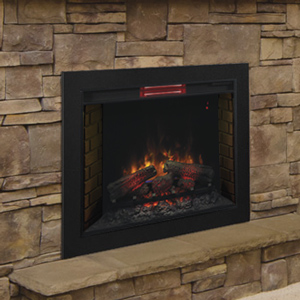 ClassicFlame 33-In Infrared Fireplace Insert & Flush Mount Conversion Kit - 33II310GRA-BBKIT33