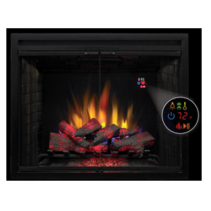 ClassicFlame 39-In LED Builders Electric Firebox with Swinging Doors - 39EB500GRS