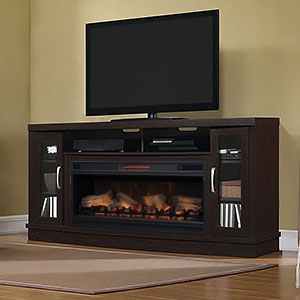 Hutchinson Infrared Electric Fireplace Entertainment Center in Oak Espresso - 42MM3115-PE91