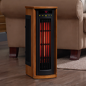 Duraflame Infrared 1,000 Sq. Ft. Tower Power Heater in Oak -  5HM8000-O142D
