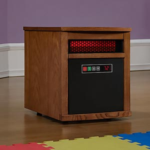Duraflame Dixie 1,000 Sq. Ft. Portable Infrared Heater in Oak- 9HM8101-O142