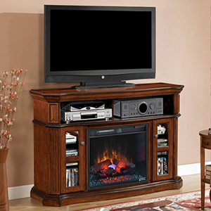 Aberdeen Electric Fireplace Media Cabinet in Cocoa Cherry - 23MM1297-C259
