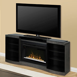 Acton Silver Charcoal Multi-Fire XD Electric Fireplace Entertainment Center w/Glass- GDS33HG-1246SC