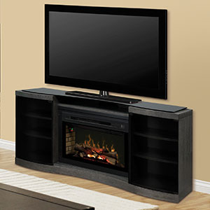 Acton Silver Charcoal Multi-Fire XD Electric Fireplace Entertainment Center w/Logs - GDS33HL-1246SC