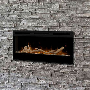 Dimplex Prism 34-In Electric Fireplace w/ Driftwood Log Set - BLF3451 & LF34DWS-KIT