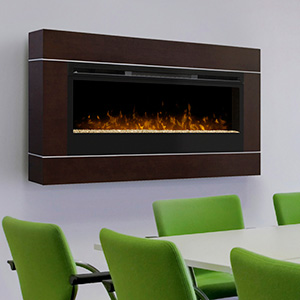 Dimplex 50-In Cohesion Burnished Walnut Wall Mount Electric Fireplace - BLF50-DT1103BW