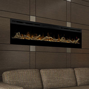 Dimplex Prism 74-In Electric Fireplace w/ Driftwood Log Set - BLF7451 & LF74DWS-KIT