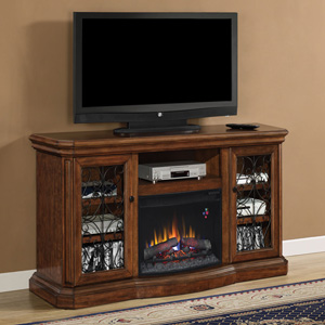 Beauregard Electric Fireplace Entertainment Center in Antique Caramel - 25MM5045-C326