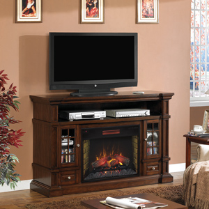 Belmont Infrared Electric Fireplace Media Cabinet in Caramel Oak - 28MM6240-O128