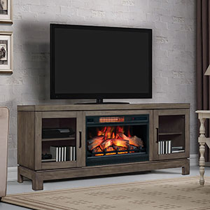Berkeley Electric Fireplace TV Stand in Spanish Grey