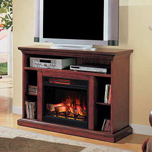 Beverly Electric Fireplace TV Stand in Premium Cherry - 23MM374-C202