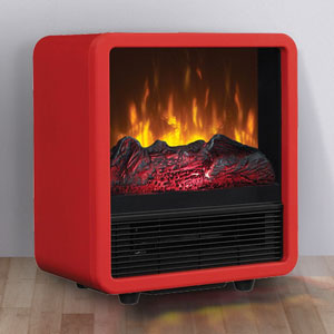 Duraflame Red Cube Electric Fireplace Stove - CFS-300-RED