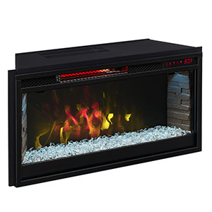 Comfort Smart 28-In Contemporary Infrared Electric Fireplace Insert - CS-28IRM