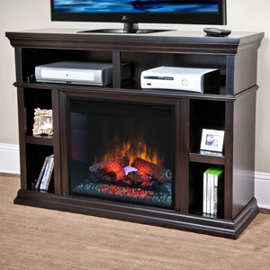 Cambridge Electric Fireplace Media Center in Espresso - 23MM6171-E451