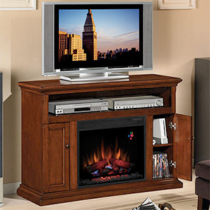 "Cannes 23"" Electric Fireplace Entertainment Center in Premium Cherry - 23MM378-C202"