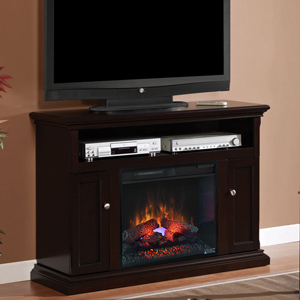 "Cannes 23"" Electric Fireplace Entertainment Center in Espresso - 23MM378-E451"