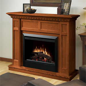 Caprice Electric Fireplace Mantel Package in Oak - DFP4743O