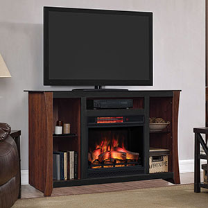 Carlin Electric Fireplace Media Console in Cherry - 23MM90066-PC72