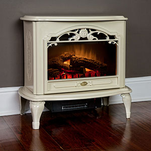 Dimplex Celeste Cream Purifire Electric Fireplace Stove with Remote Control - TDS8515TC