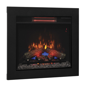 ClassicFlame 23-In Infrared Fireplace Insert & Flush Mount Conversion Kit - 23II310GRA & BBKIT-23