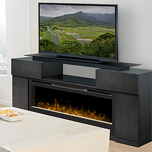 Electric Fireplace with TV, Media Consoles & Entertainment Centers ...
