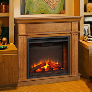 Crestwood Wall or Corner Electric Fireplace Mantel Package in Oak - CRESTWOODC23-OK