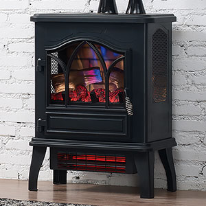 Duraflame 3D Black Infrared Electric Fireplace Stove - DFI-470-04