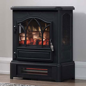 Duraflame Black Infrared Electric Fireplace Stove - DFI-470-06