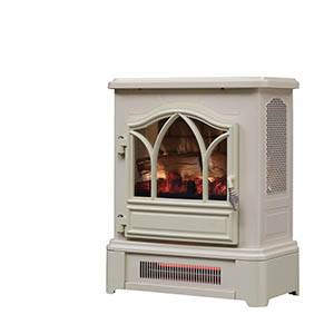 Duraflame Cream 3D Infrared Electric Fireplace Stove - DFI-470-09
