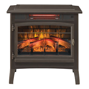 Duraflame 3D Bronze Infrared Electric Fireplace Stove with Remote Control - DFI-5010-02