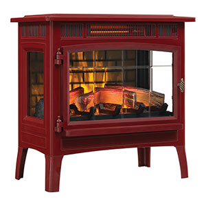 Duraflame 3D Cinnamon Infrared Electric Fireplace Stove with Remote Control - DFI-5010-03