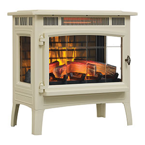 Duraflame 3D Cream Infrared Electric Fireplace Stove with Remote Control - DFI-5010-04