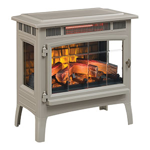 Duraflame 3D French Grey Infrared Electric Fireplace Stove with Remote Control - DFI-5010-05