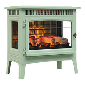 Duraflame 3D Pistachio Infrared Electric Fireplace Stove with Remote Control - DFI-5010-06