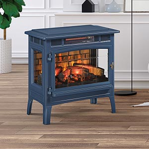 Duraflame 3D Navy Infrared Electric Fireplace Stove with Remote Control - DFI-5010-07