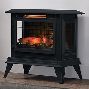 Duraflame 3D Black InfraGen Electric Fireplace Stove w/ Remote Control - DFI-5020-01